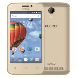 Telefon DUAL SIM myPhone POCKET - zlatý