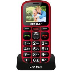 Telefon SENIOR - CPA HALO 16 - červený