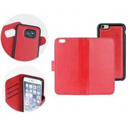 Book + silikonové púzdro na Apple iPhone X - červené