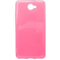 Gumené puzdro Huawei Y7 ružové, nelepivé