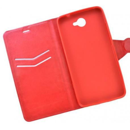 Bočné knižkové puzdro Huawei Y7 červené
