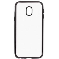Gumené puzdro Samsung Galaxy J3 2017 priehľadné, čierny rám
