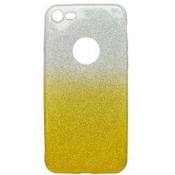 Farebné trblietavé puzdro iPhone 8, žlté