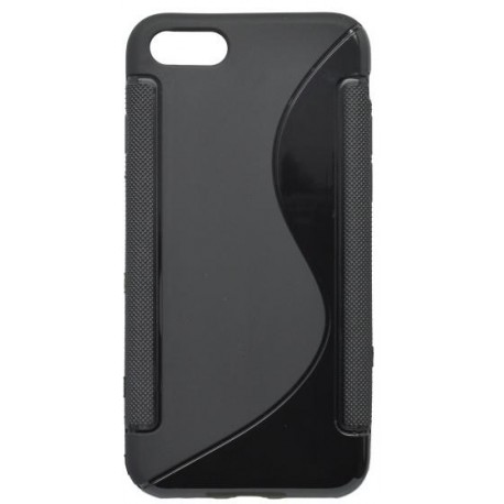 Gumené puzdro S-Line iPhone 8, čierne