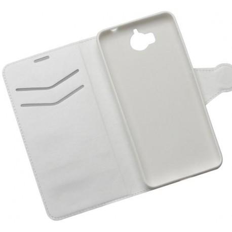 Knižkové bočné puzdro Huawei Y6 2017 biele