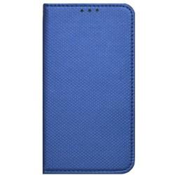 Bočné knižkové puzdro Moto C Plus, modré vzorované