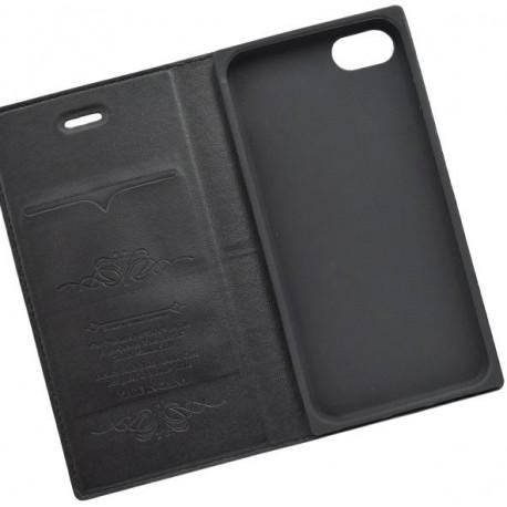 Knižkový obal / puzdro Luxury iPhone 8, čierne
