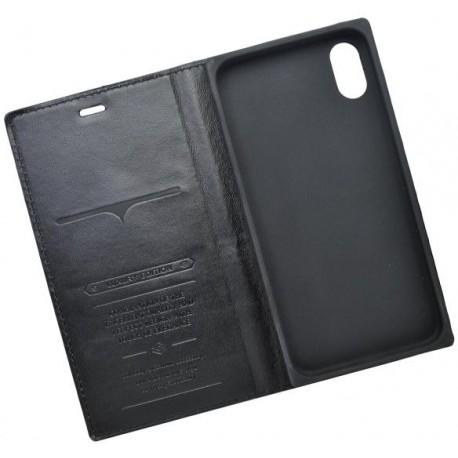 Knižkové puzdro Luxury iPhone X čierne