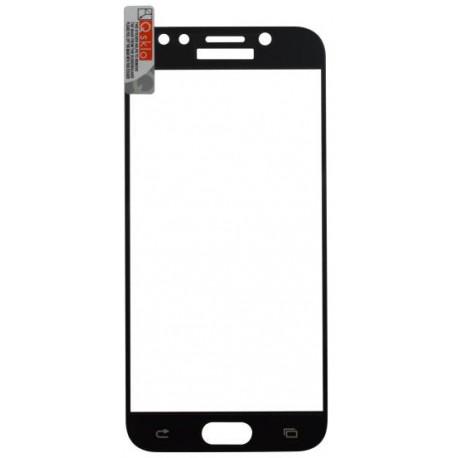 Ochranné sklo Samsung Galaxy J5 2017 čierne, fullcover, 0.33mm Q sklo