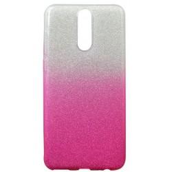 Gumené puzdro Huawei Mate 10 Lite ružové, trblietky