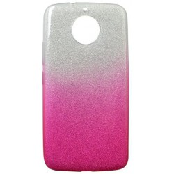 Gumené puzdro Moto G5s ružové, trblietky