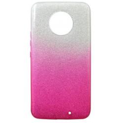 Gumené puzdro Moto X4 ružové, trblietky