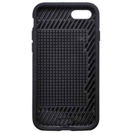 Plastové puzdro iPhone 8 sivé s gumenou vaničkou