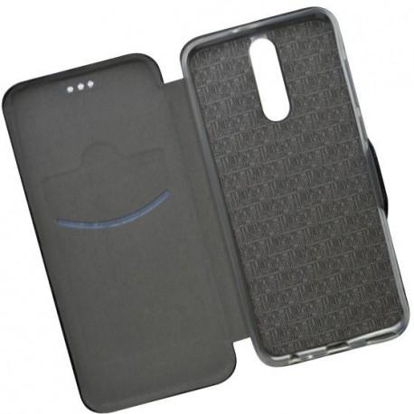 Bočné knižkové puzdro Huawei Mate 10 Lite čierne, karbón