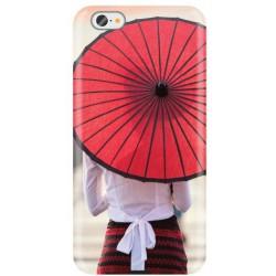 Vzorované gumené puzdro iPhone 8, Red Umbrella