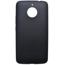 Matné gumené puzdro Moto E4 Plus čierne
