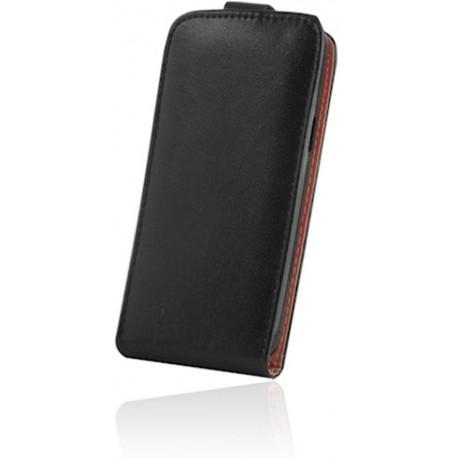 Leather case Sligo Plus New for Samsung A8 2018 black